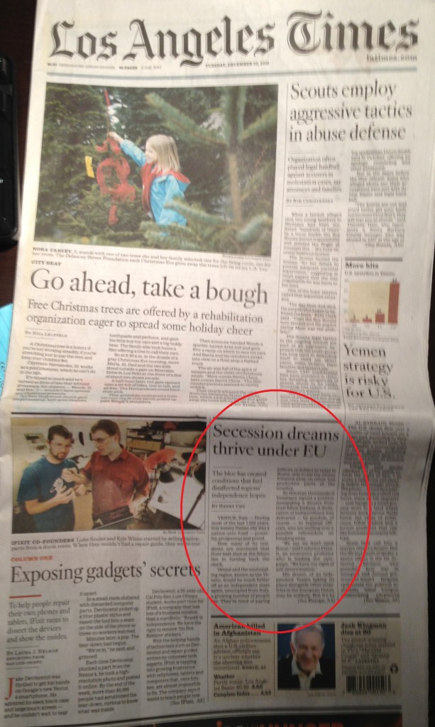 Los Angeles Times 25-12-2012