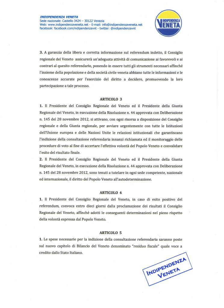 indizione del referendum sull indipendenza del Veneto007
