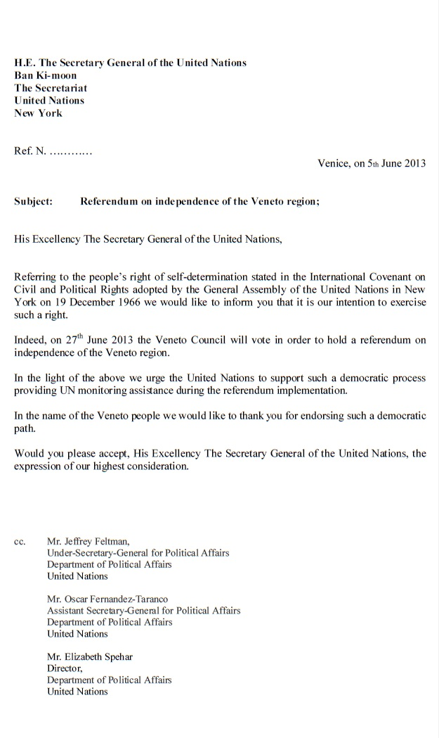 His Excellency The Secretary General of the United Nations