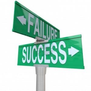 8950241-un-segnale-stradale-a-due-vie-verde-che-punta-al-successo-e-fallimento-che-simboleggia-la-sta-a-un-b