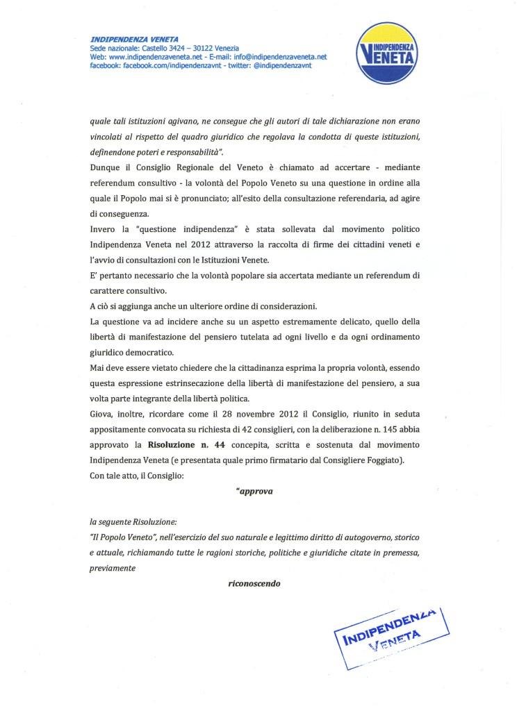 indizione del referendum sull indipendenza del Veneto003