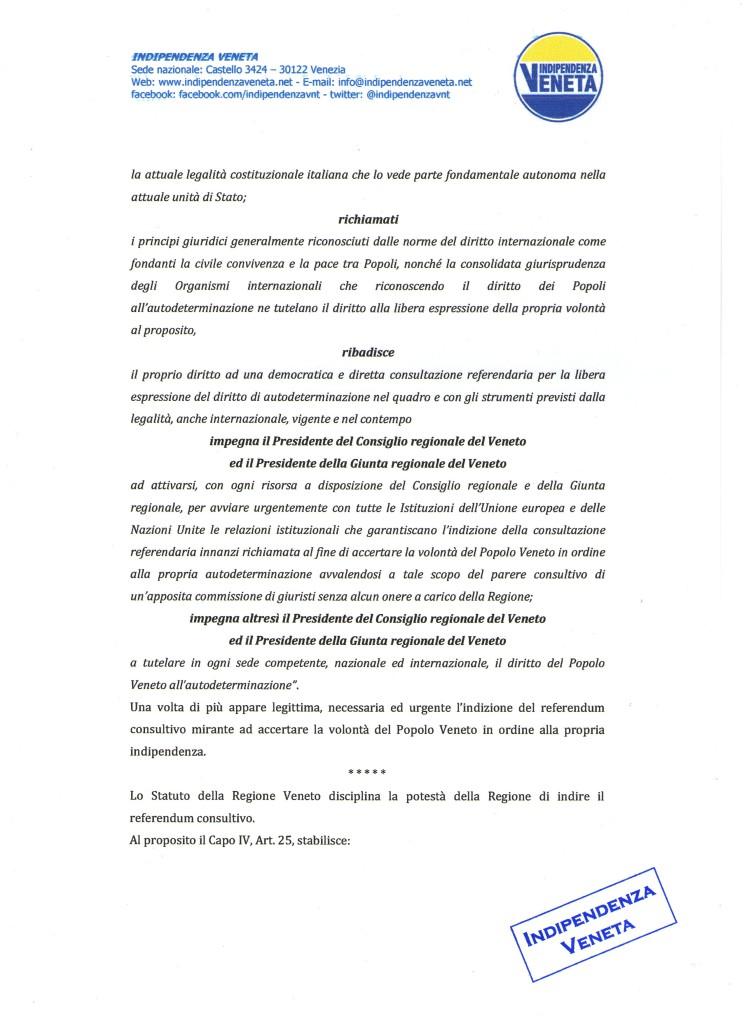 indizione del referendum sull indipendenza del Veneto004