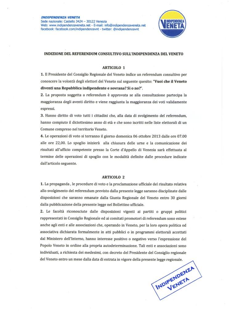 indizione del referendum sull indipendenza del Veneto006